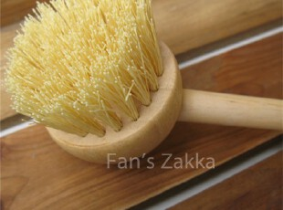 Fan's zakka杂货  原木。日式木制圆头锅刷,