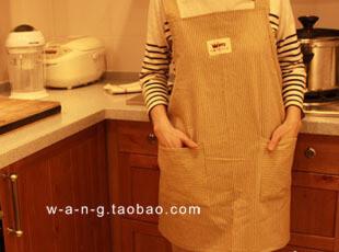 WANG 【住家饭】 围裙 工作服 纯棉  黄色 限量发售,