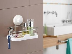 冲冠7折促销厨卫两用吸盘金属置物篮沥水架置物架收纳架,浴室储物,