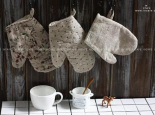 INCAFE| 田园棉麻手套 隔热手套 厨房手套 手套 微波炉手套 布艺,