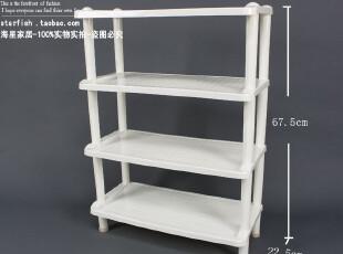 0981 塑料置物架 精品置物架 方形置物架 鞋架 白色 1,