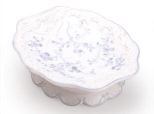 [玲珑堂] 外贸独家 典雅浮雕蓝花骨瓷皂碟 浴室洁具,