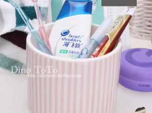 ZARAHOME 外单陶瓷卫浴配件用品牙具牙刷座架牙膏杯杂物收纳 实拍,浴室储物,