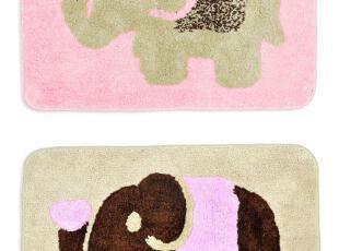 吉祥长鼻象超细纤维长方形地垫/地毯/门垫3款选4096  0.24KG,浴室垫,