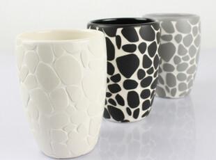 欧洲卫浴spirella创意鹅卵石浴室套装 情侣陶瓷漱口杯 刷牙杯,