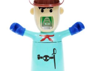 创意牙刷架 爱情勇士洗漱套装 自动挤牙膏器 漱口杯4471  0.5kg,
