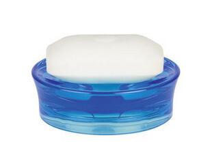 欧洲卫浴spirella 亚克力 麦克丝透明蓝色香皂盒 肥皂盘 皂盒,
