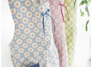 韩国代购 全棉厨房围裙 无袖粉色围裙 家居工作服 WQ-05(3色),