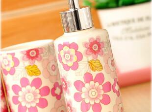 ◆新婚送礼 创意可爱 陶瓷 韩版浴室 卫浴五件套装 浴室洗漱套件,