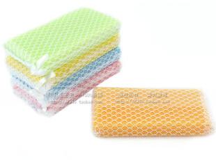 日本AISEN 洗碗海绵 百洁布 洗碗布 细网清洁海绵 洗碗巾5P KCJ02,