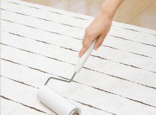 日本LEC滚筒刷除尘器_毛发粘刷_地毯手柄清洁拖把_带盒套,