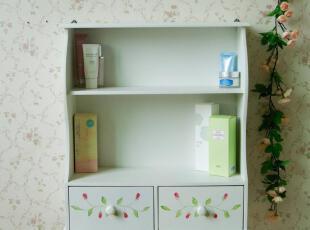 韩式田园挂壁架 厨房置物架 厨房挂架 白色浴室架 多用家具 NB074,