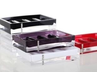 新品 时尚创意厨卫卫生间洗浴用品水晶之恋亚克力肥皂盒肥皂架,