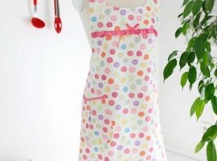 韩国进口代购环保防辐射全棉无袖围裙 可爱工作服家居围裙WQ-04,