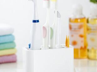 日本LEC  牙刷置物架 牙膏收纳架 电动牙刷整理架 多分隔 可拆洗,浴室储物,