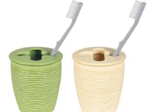 【时尚卫浴丝普瑞】Spirella合成树脂木纹系列圆形牙刷架 4色,
