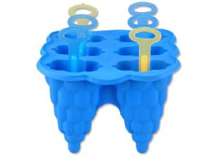 莱珍斯 硅胶小树冰糕模 冰格制冰模 硅胶制冰模具 棒冰块模具冰格,厨房工具,