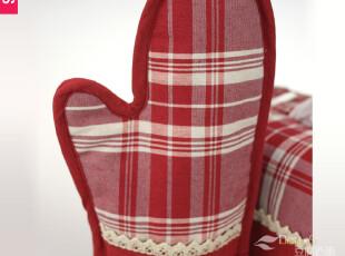 豆腐西施 爱的格调 棉麻加厚微波炉手套 防烫手套隔热烤箱手套,厨房工具,