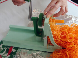 日式多功能旋转切菜器 TURNING SLICER 切丝器 刨丝机 赠备用刀片,厨房工具,