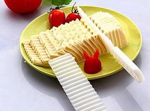 皇家超能厨房DIY创意用品 两件套 豆腐模具花样刀 波浪豆腐刀,厨房工具,