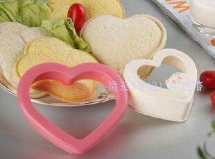 日本进口厨房小工具DIY模具三明治模具心形三明治模盒 吐司模具,厨房工具,