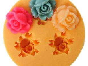 妮可迷你硅胶模具F0024三孔 1.6CM 树脂花粘土软陶糖果巧克力模具,厨房工具,