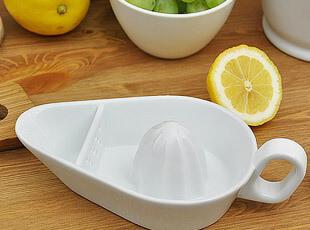 陶瓷 白色 船形 手工榨汁器 榨汁机 小号,厨房工具,