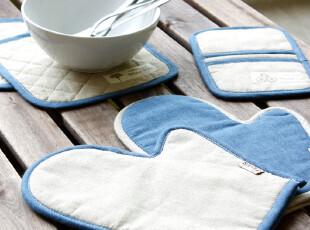 加厚布隔热垫微波炉手套两件套三件套锅垫碗垫盘垫隔热手套隔热棉,厨房工具,