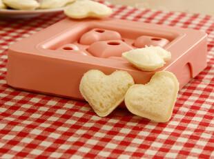 Arnest 心形迷你三明治速成器 饭团模/厨房DIY爱心模具 切片面包,厨房工具,