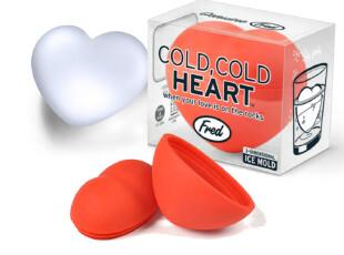 新品!即将上市!预购美国Fred&Friends冰冷之心3D立体制冰格模,厨房工具,