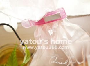 【满6件包邮】日本进口厨房帮手 保鲜封口夹-带日期-3只装,厨房工具,