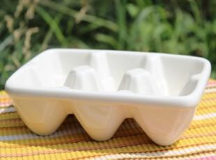 【A grass】外贸陶瓷纯白六格冰块模具、冰格,厨房工具,