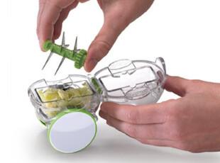 美国Chef'n 滚轮切蒜器  蒜粒器 压蒜器 红点设计大奖 三色选,厨房工具,