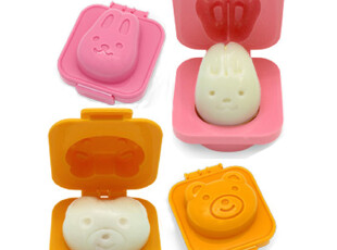 超可爱的卡通鸡蛋模 饭团模 兔熊套装(2个)造型模具 便当制作,厨房工具,