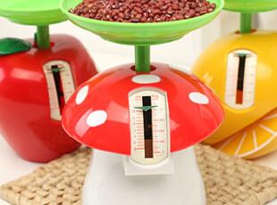 懒角落★创意家居 可爱厨房迷你秤带托盘 家庭食物称烘焙秤 35433,厨房工具,