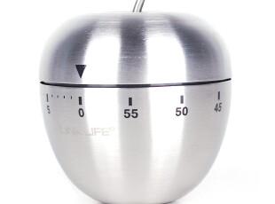 [凌柯生活]创意可爱苹果型不锈钢厨房闹钟/计时器/定时器/提醒器,厨房工具,