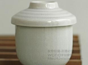 日式蒸蛋碗 青色偏紫带盖 小杯鸡蛋羹容器 稍有色差 介意请勿购买,厨房工具,