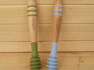 Lasion 出口原单 进口榉木 蜂蜜棒 搅拌棒(硅胶头),厨房工具,