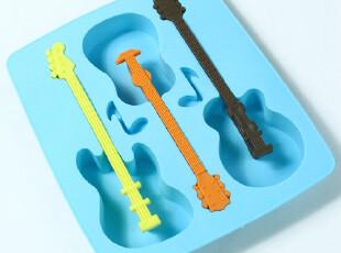 hoole 创意吉他冰格 制冰盒 创意模具 冰盒 冰模,厨房工具,