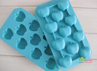 可爱苹果 巧克力模 硅胶蛋糕模具 手工皂冰块冰格模 不沾,厨房工具,