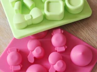 夏日必备!可爱蝴蝶结 纽扣 糖果造型模具冰格,厨房工具,