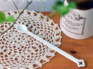BAO ZAKKA 杂货 日单 梅花柄 纯白 长形 搅拌勺,厨房工具,