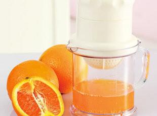 万能榨汁机 两用手动榨汁器 柠檬橙子压汁器 婴儿手摇水果压榨机,厨房工具,