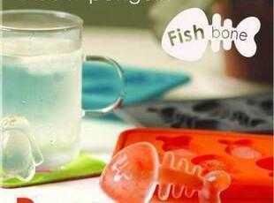 精品创意软胶鱼骨头冰格&制冰格 冰模 柔软好用有创意 1942,厨房工具,