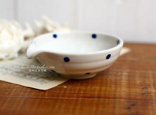 Bao ZAKKA 和风手绘 陶瓷 带嘴 研磨小碗 研磨盅 婴儿食材随机款,厨房工具,