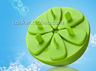 新品 橙型创意6格冰棍模雪糕模具冰棒盒冰箱冰格制冰盒,厨房工具,