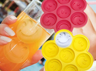 创意冰盒 笑脸冰格 冰模DIY冰格 制冰器 硅胶冰块模具 冻冰块模具,厨房工具,