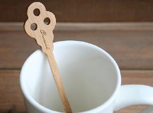 FEN ZAKKA 杂货 竹制搅拌棍 搅拌棒 (三孔钥匙小号),厨房工具,