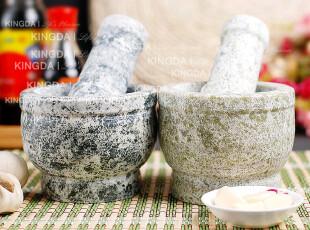 特惠 昌乐绿石 纯天然 捣蒜器 蒜泥器 石臼子石蒜臼子 家用小号,厨房工具,