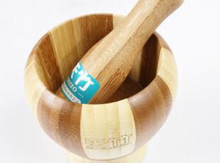 创意厨房用品竹制蒜罐剥蒜器压蒜器捣蒜器捣蒜臼捣臼研钵器厨具,厨房工具,